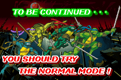 Teenage Mutant Ninja Turtles 2 - Battle Nexus - Ending  - The end of easy mode - User Screenshot